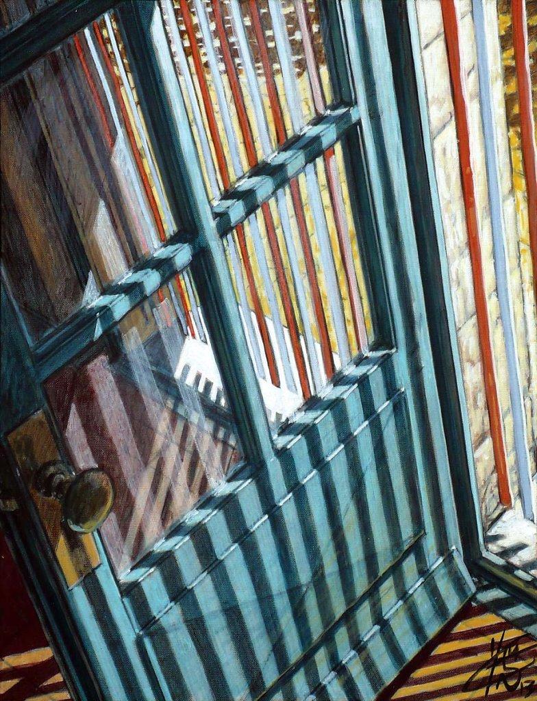 Porte rayée 35X27 2013.