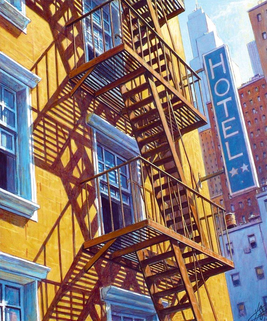 Escalier de secours 55X46 2011.