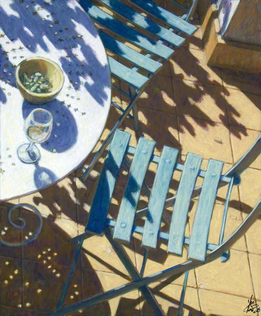 Chaises bleues 65X54 2008