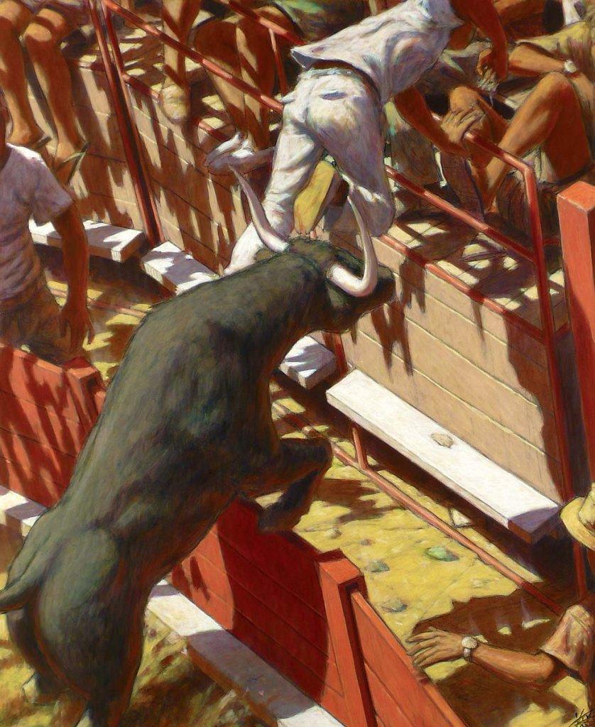 Coup de barrière 100X81 2008