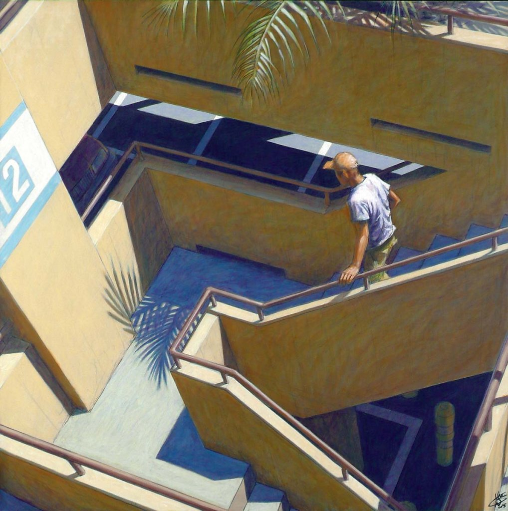Escalier parking 120X120 2008