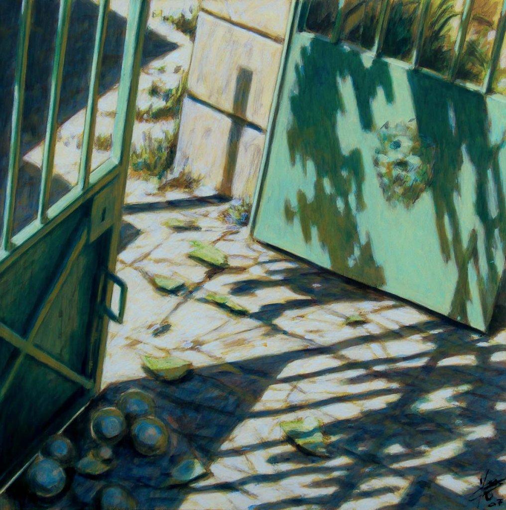 Portail vert 60X60 2007