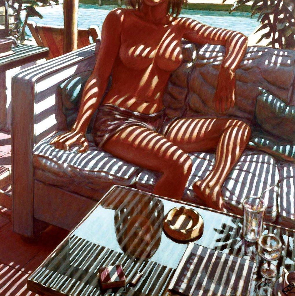 Femme sans tête 120X120 2004
