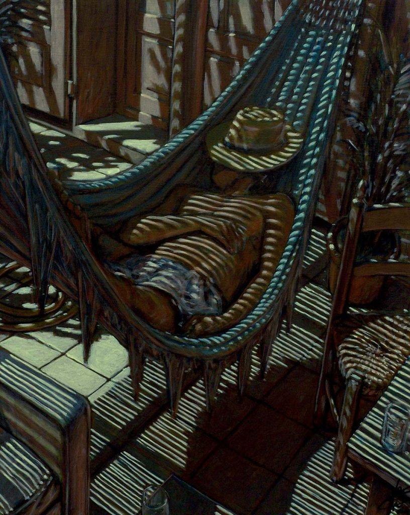 Homme hamac 81X65 2004