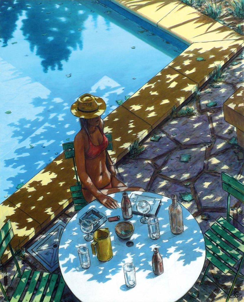 """Fille a la piscine"" 100X81 2014"