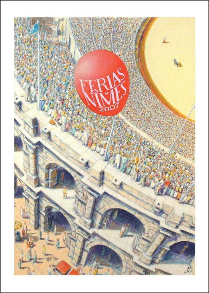"""Affiche """"feria 2007"""", 65X49cm, Dédicacée"""