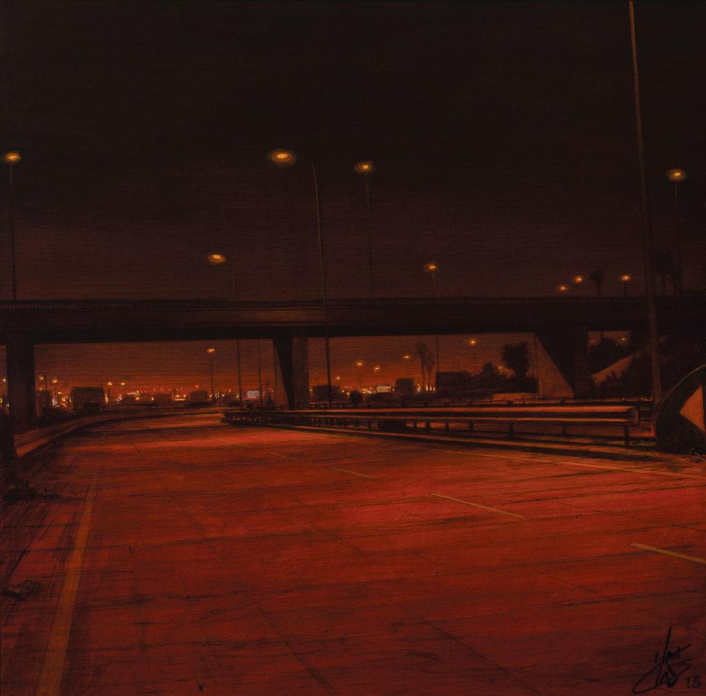"""Nigh road "" 40X40 2015"