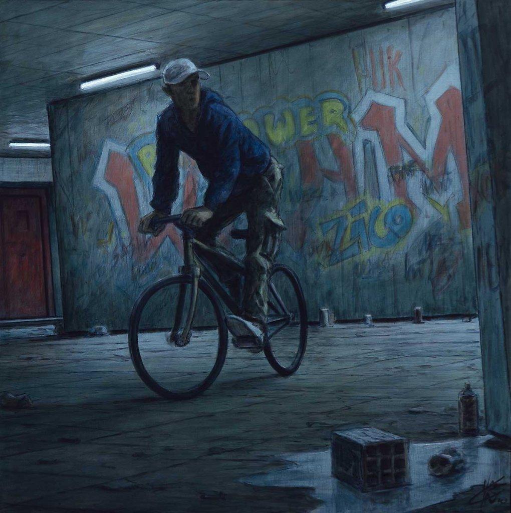 """Cycliste"" 60X60 - 2010"