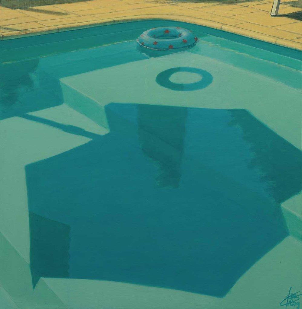 """Reflet piscine"" 55X55 - 2019"